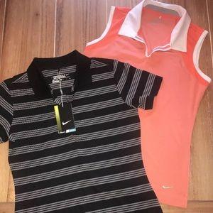 Nike Tour Performance Shirts Small - Pair
